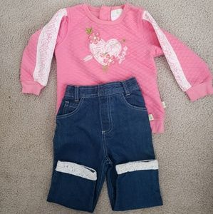 Brandnew toddler 24m lacey outfit